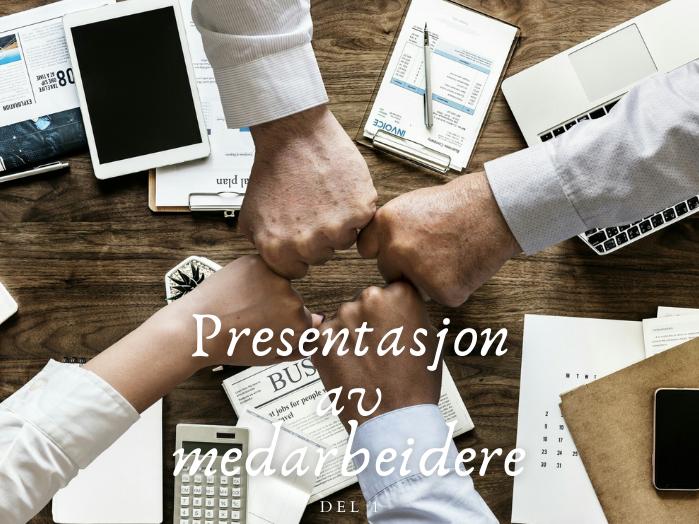 Presentasjon av medarbeidere, del 1